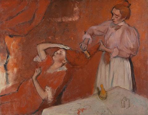 'La Coiffure'. 1896. Hilaire Germain Edgar Degas. Este cuadro formó parte de la colección de Matisse.