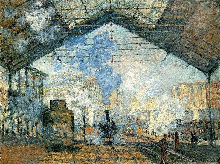 monet - estacion Saint-Lazare 1877