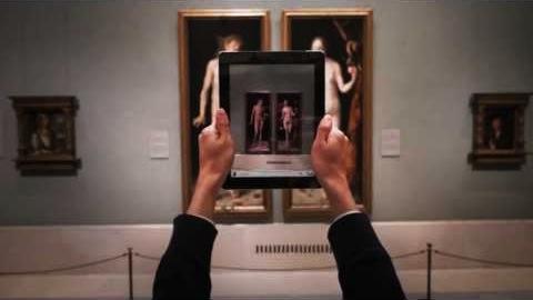 Imagen publicitaria de la App Oficial del Museo de Prado.