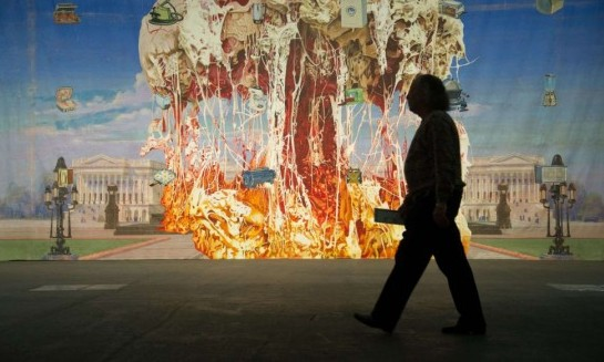 obra del artista estadounidense Jim Shaw titulada