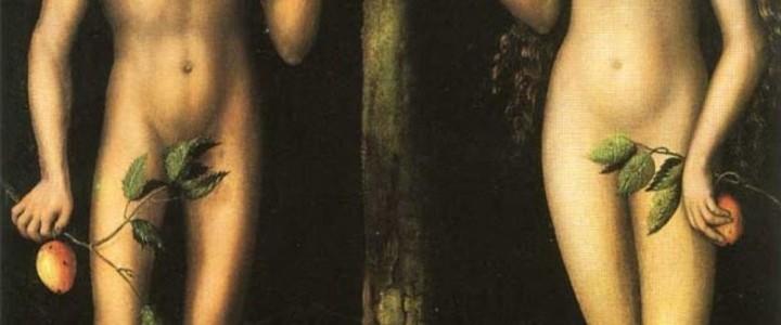Pintura de Adán y Eva