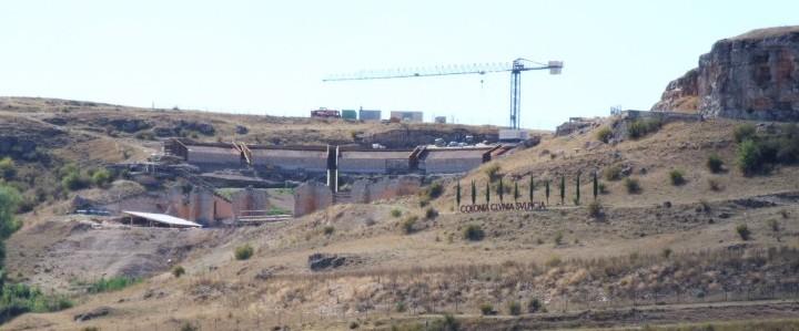 Vista general del teatro de Clunia.