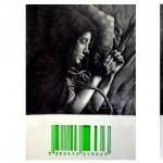 Series Fills de la utopia_3 piezas de 100X70 (cm)_Làpiz 4B y cartulinas fluor sobre papel recortado