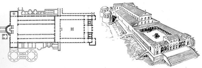 Antigua Basílica de San Pedro construida por Constantino en el siglo IV