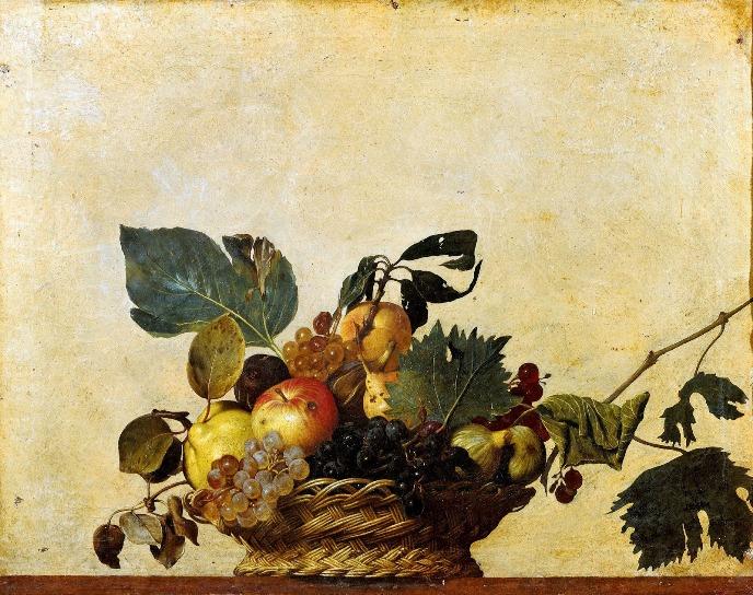 """Caravaggio, """"Cesta de fruta"""", 1599."""
