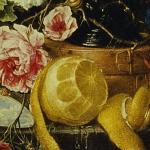 "Cornelis de Heem, ""Naturaleza muerta con vaso""."
