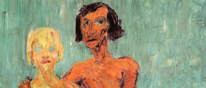 """Emil Nolde, """"Hombre y mujer"""", 1910."""