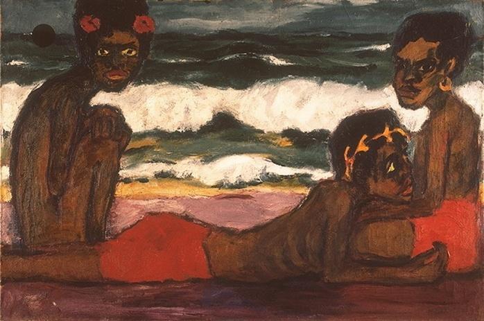 """Emil Nolde, """"Jóvenes en Papúa"""", 1914."""
