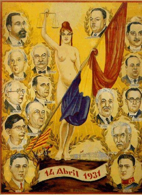 Cartel de la Proclamación de la Segunda República, el 14 abril 1931.