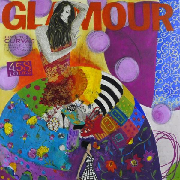 glamour-150-x-150-tecnica-mixta-sobre-lienzo-carmen-casanova-exposicion-glamourama-galeria-herraiz-madrid