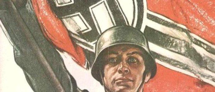 Cartel de propaganda nazi de la Segunda Guerra Mundial