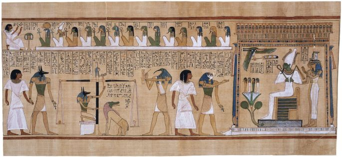 Papiro de Hunefer, Dinastía XIX. Juicio de Osiris.