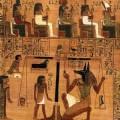 Papiro de Ani, Dinastía XIX, hacia 1250 a. C., Juicio de Osiris.
