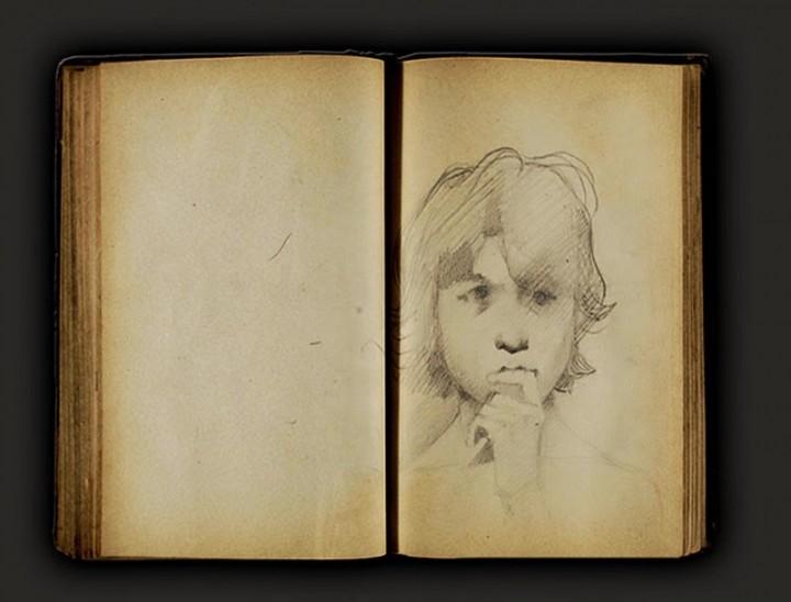 Boceto de personas de Georges Seurat