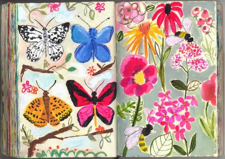 Ilustraciones de los sketchbooks de Jennifer Orkin Lewis
