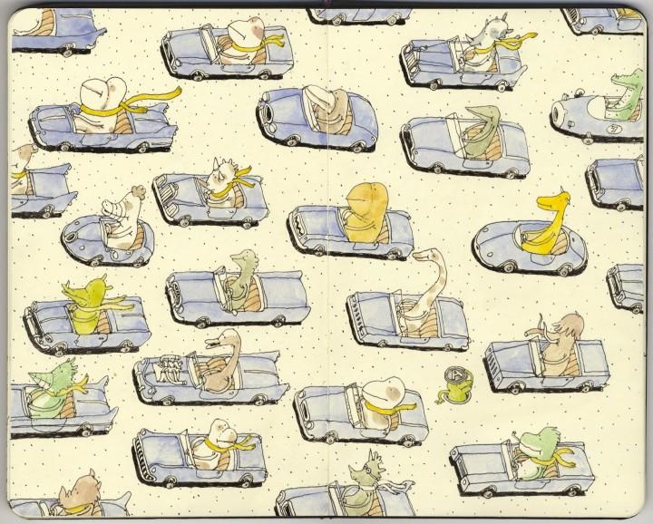 """Sketchbook de Mattias Adolfsson """"Same destination"""""""