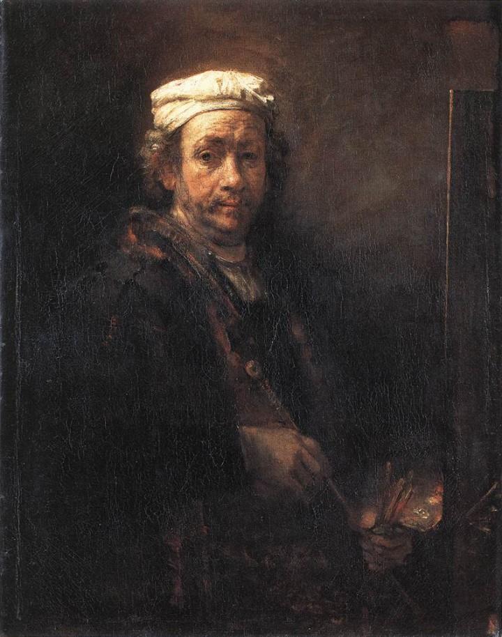 Autorretrato de Rembrand, s.XVII