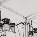 Estudio de una central eléctrica, Antonio Sant'Elia.