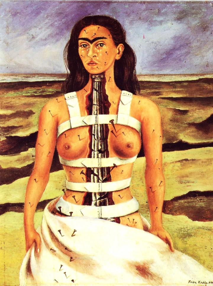 "Autorretrato de Frida Khalo, ""La columna rota"", 1944"