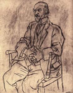 Retrato de Erik Satie por Picasso 1920 - Ginaleon©