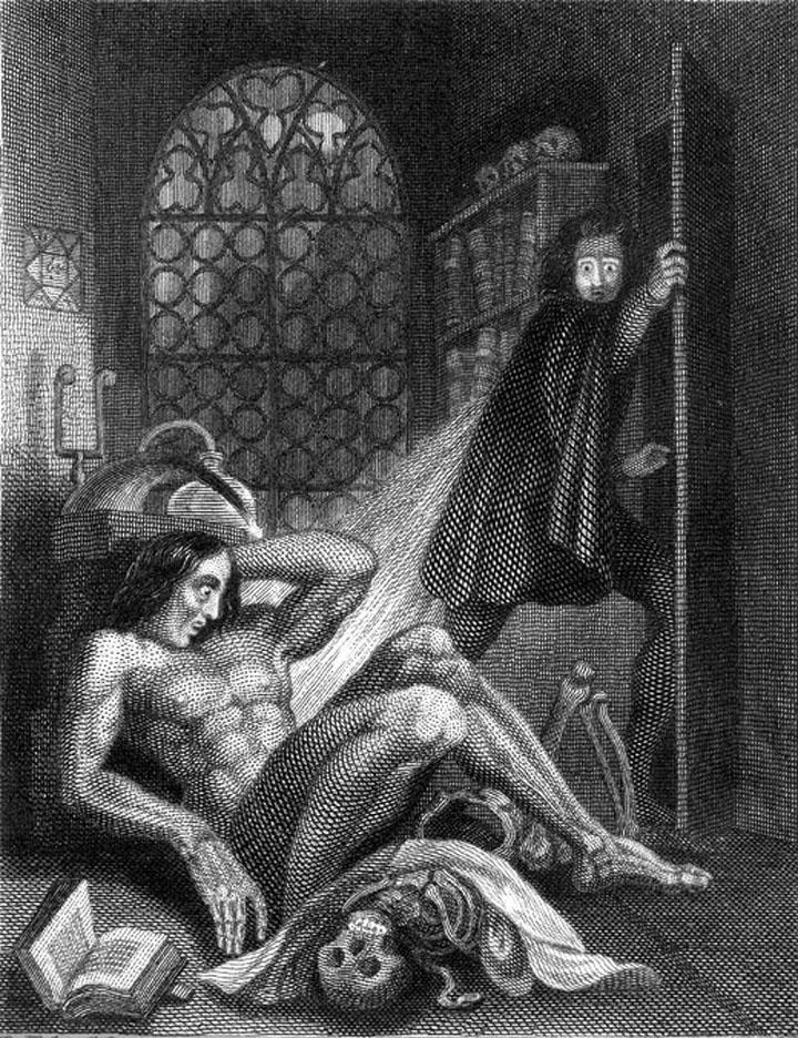 Ilustración de portada Frankenstein