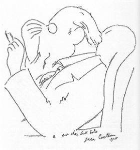 Caricatura de Satie por Jean Cocteau 1910 - french.chass.utoronto.ca©