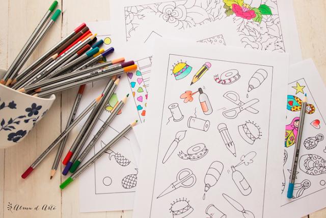 Dibujos para colorear hechos a mano.
