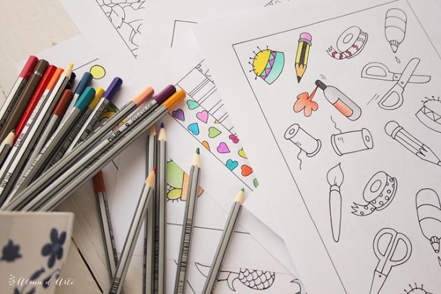 Dibujos hechos a mano para colorear anties-trés