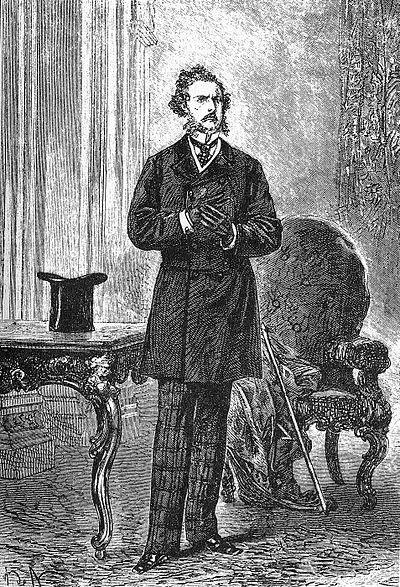 Ilustración de Phileas Fogg por Alphonse de Neuville & Léon Benett 1873