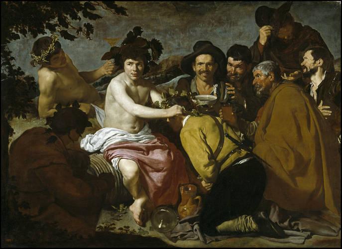 """Diego Velázquez, """"Los borrachos"""", 1628-1629."""