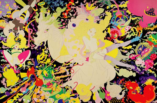 Ilustración de Estudios de animación Deva Loka 2010 - Yoshitaka Amano - artmap.com ©