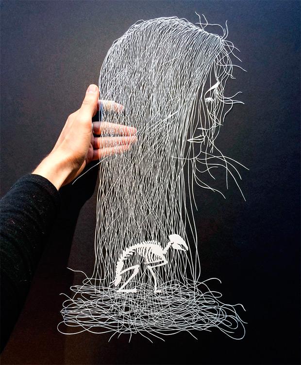 Obras de arte de papel recortado