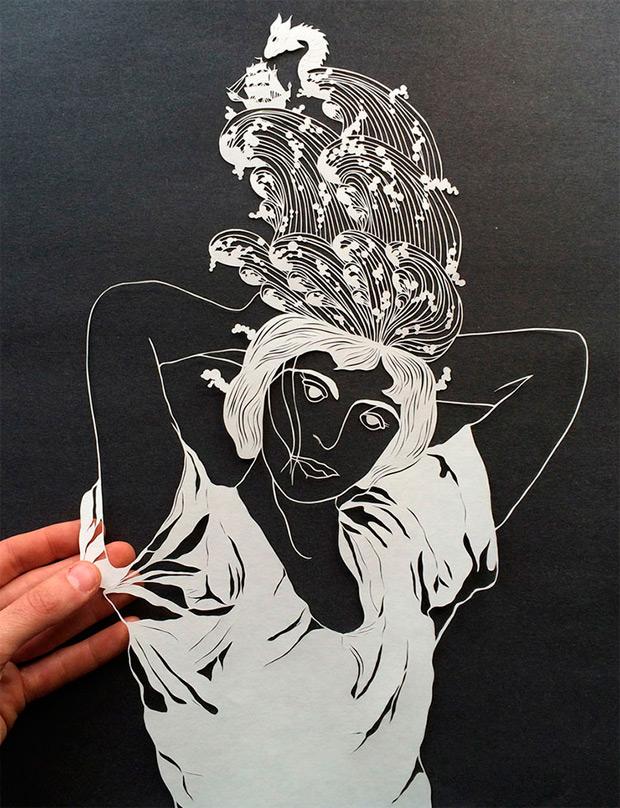 Obras de arte en papel recortado de Maude White