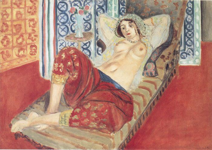 """Henri Matisse, """"Odalisca con pantalón rojo"""", 1921."""