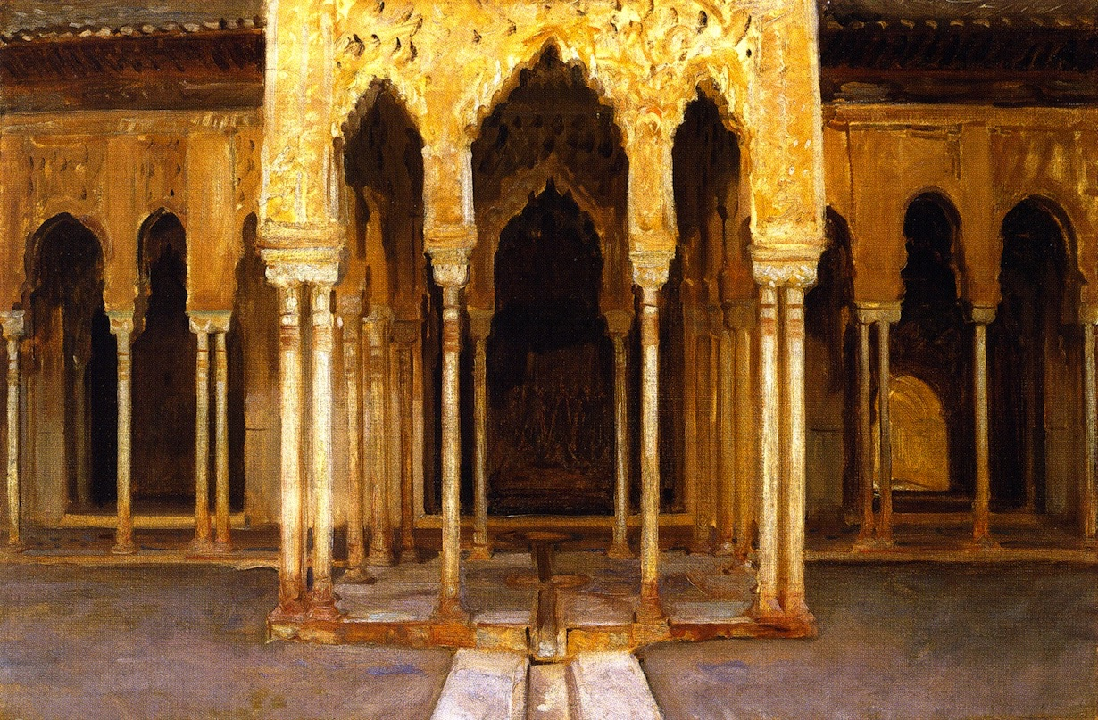 "John Singer Sargent, ""La Alhambra. Patio de los leones"", 1895."