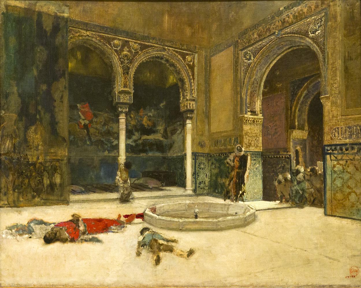 """Mariano Fortuny, """"La Matanza de los Abencerrajes"""", 1870."""