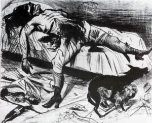 'Asesino sexual', Otto Dix, 1922.