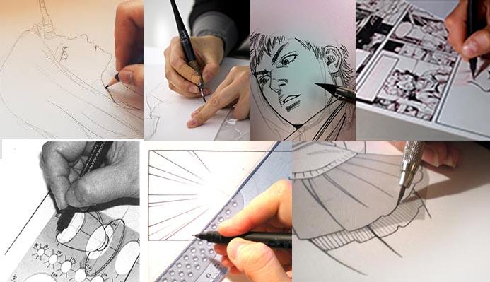 proceso de un manga - lateliercanson.es© tvhandlan © manga-ink.blog.fr ©