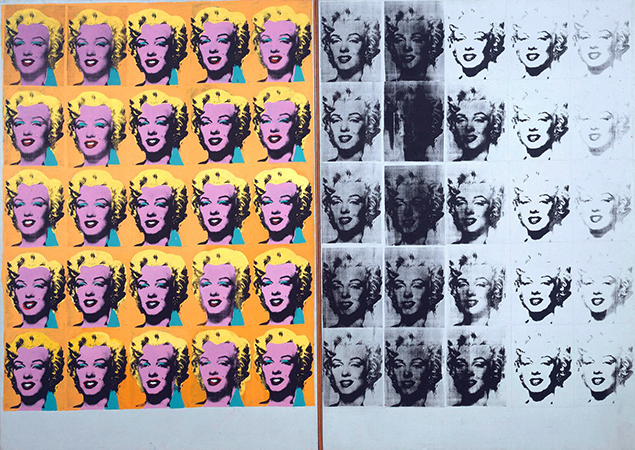 Andy Warhol, Marilyn Diptych, 1962 . Acrílico sobre lienzo, 2054 x 1448 x 20 mm. Tate Collection
