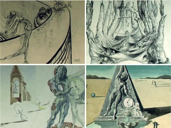 bocetos de Dalí para Destino