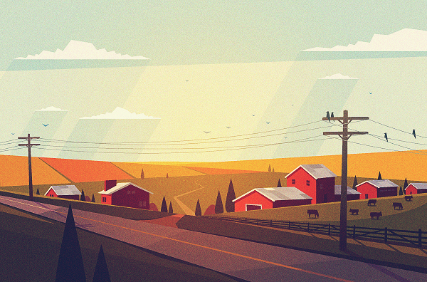 Roman Dementev- Rural roadside