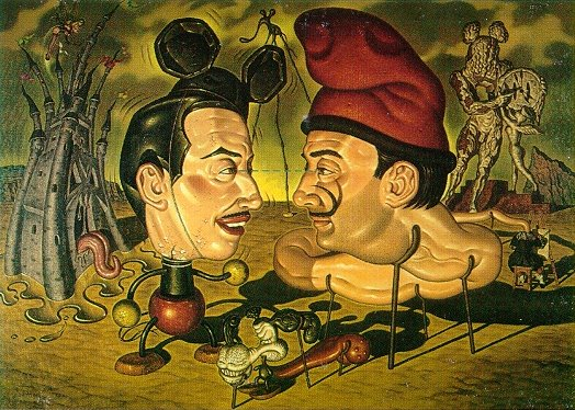 Ilustración Salvador Dalí y Walt Disney