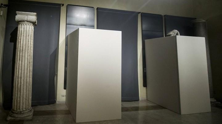 Estatuas cubierta en los Museos Capitolinos. Giuseppe Lami AP Foto. Vía El País