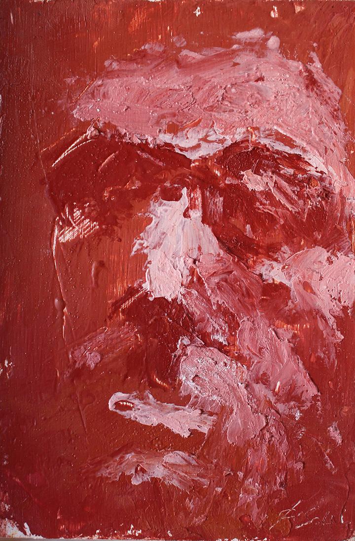 Estudio Giacometti 5_Encaustica sobre madera_25x18cm_año 2014