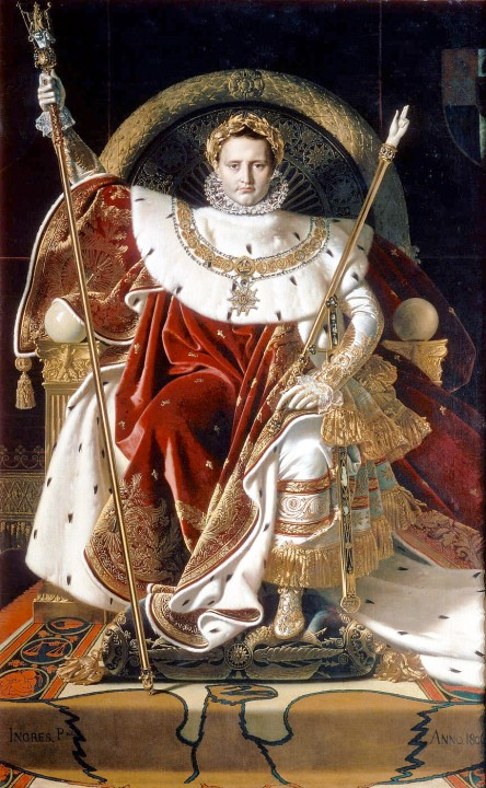 Napoleón Bonaparte como Júpiter entronado