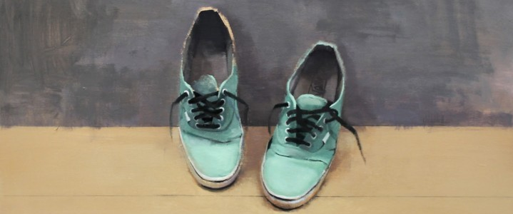 Zapatillas de Javito Ruiz Perez_80x80_oleo sobre tela_2014
