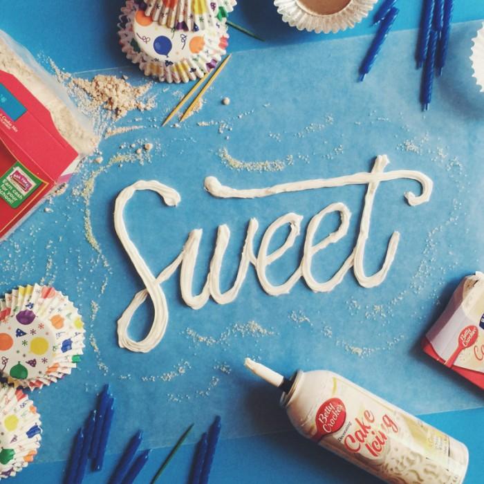 """Sweet"" con nata montada. By Becca Clason."