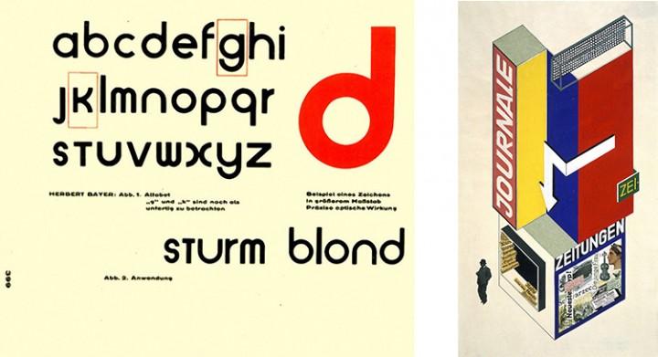Herbert Bayer,Universal Typeface Herbert Bayer, Zeitungskiosk, 1924