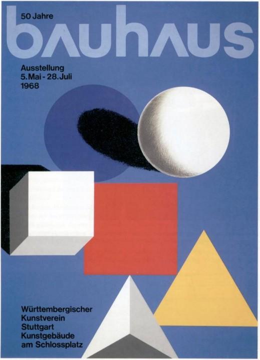 Herbert Bayer, Bauhaus poster, 1968