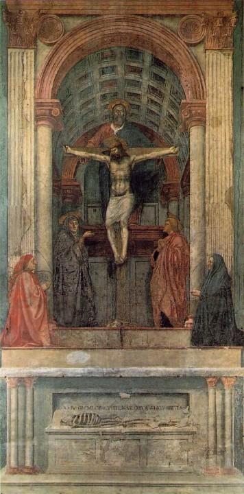 La Trinidad, Santa María Novella. Masaccio 1425-1428